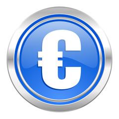 euro icon, blue button