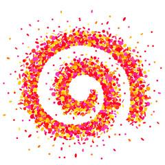 Confetti sprale in pink