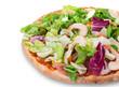 Delicious italian primavera pizza
