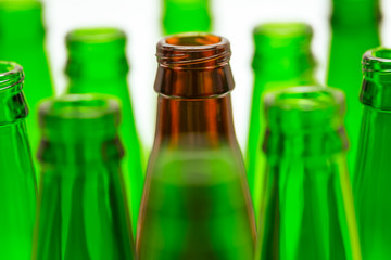 Nine Green and One Brown Bottles.