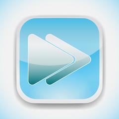 fast forward button vector icon