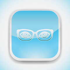 glasses with eyes vector icon