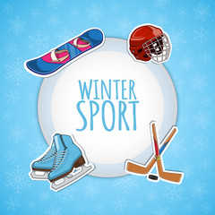 Winter sports background.