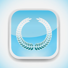 laurel wreath symbol vector icon