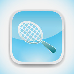 racket ball vector icon