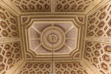 Beautiful ceiling inside the rooms of Reggia di Caserta
