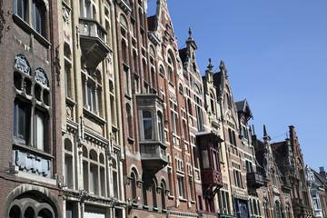 Historische Fassaden in Gent, Belgien