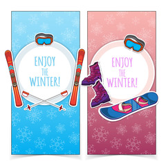 Winter sports banners.