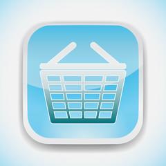 supermarket shopping basket vector icon