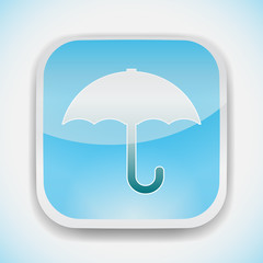 weather umbrella vector icon