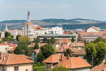 High View Of Alba Iulia City In Romania