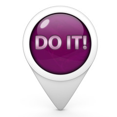 Do it pointer icon on white background