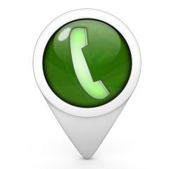 phone pointer icon on white background
