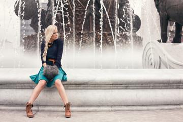 stylish blond girl