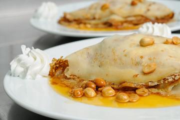 peanuts pancake crepe dessert