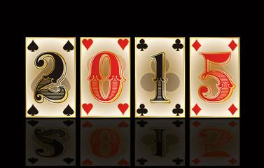 Christmas casino card, vector illustration