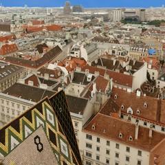 Wien von oben: Blick vom Stephansdom Richtung West