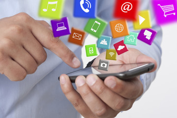 exchange applications with a smart phone