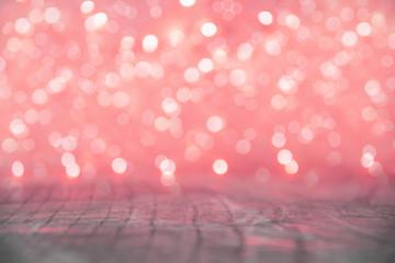 Red Christmas lights blur