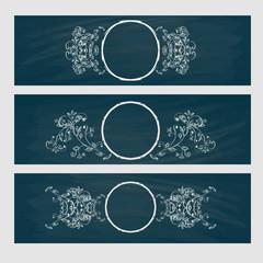 Design element. Beauty decorative frame for text