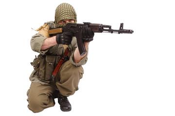 rebel with AK 47