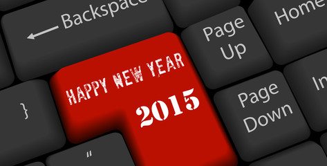 happy new year on enter keyboard