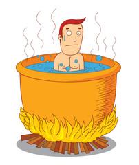 boiled man