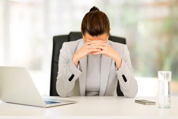 stressed businesswoman