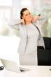 businesswoman having neck pain