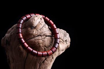 Lobular red sandalwood prayer beads bracelets
