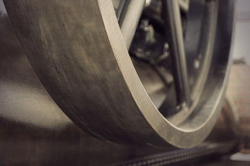 vintage metal wheel