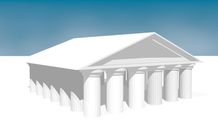 greek ancient temple in 3d
