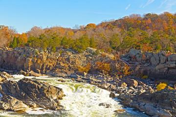 Great Falls National Park in autumn, Virginia USA