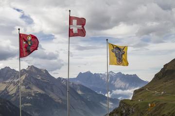 Flaggen auf dem Klausenpass