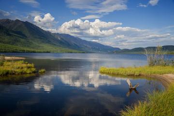 The lake Leprindo in the mountains in Transbaikalia