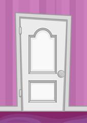Cartoon door interior