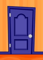 Cartoon door interior