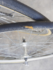 Bicycle wheel puncture