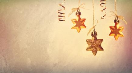 Christmas golden star ornaments