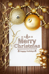 Merry Christmas message