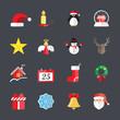 flat christmas icon set 3, vector eps10