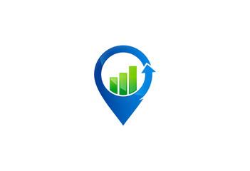 business finance location logo