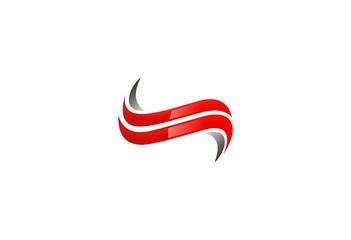 business logo letter S swirl vector