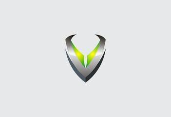 business logo V alphabet vector