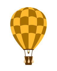 Hot air balloon in brown and orange design