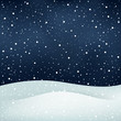 snowfall night background - 73597687