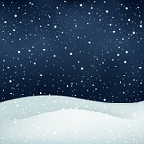 snowfall night background