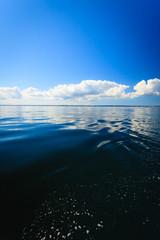 Beautiful seascape sea horizon and sky.