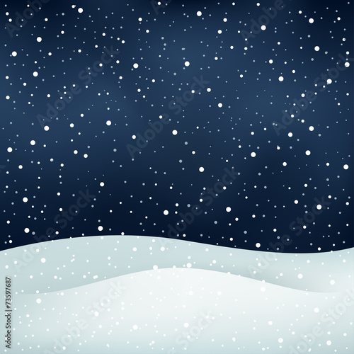 snowfall night background - 73597687