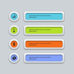 vector colorfull business infographic design template